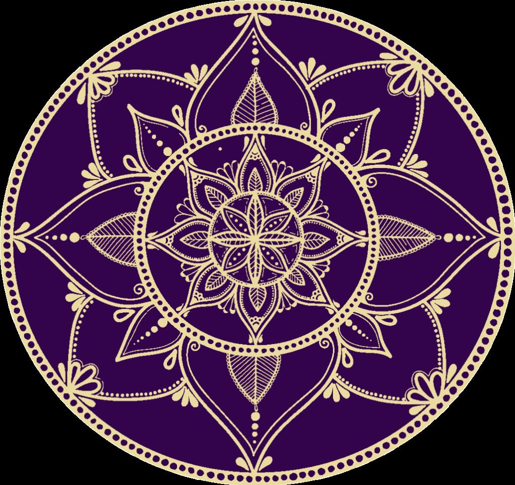 Purple and Gold Mandala