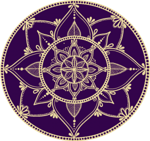 Purple and Gold Mandala