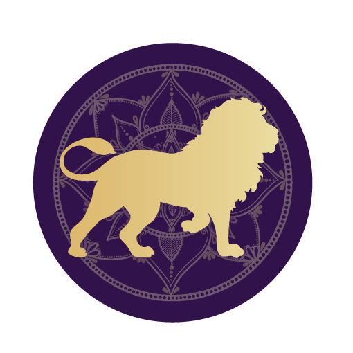Lion mandala icon
