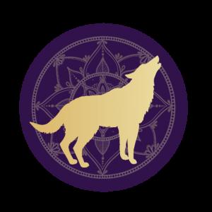 Wolf mandala icon